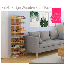 [Agoramart] Sleek Design Wooden Shoe Rack 6/7/8 Tier