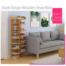 [Agoramart] Sleek Design Wooden Shoe Rack 6/7/8 Tier