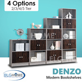 【DENZO】Bookshelves 3 tier 4 tier 5 tier 6 tier/Storage/Bookshelf/Organizer/Book Rack/Cabinet