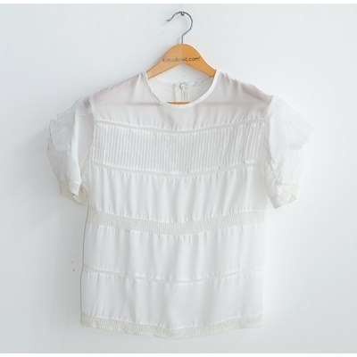 03. frill detailed blouse - white - free