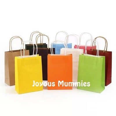 0bc2cb071de 【20pcs/Pack Colorful Kraft Paper Bags】Goodie Bags/Party Gift Bags/