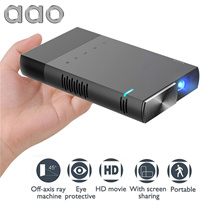 Portable Mini HD Projector DLP 1500 Lumens Sync Wired Display for 1080P Home Theater with HDMI USB T