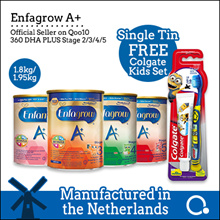 [Enfagrow A+] [Single tin] Stage 2/3/4/5 1.8kg | Made in Netherlands | Official reseller [Qoolife]