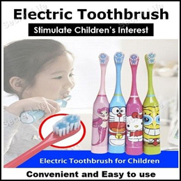 Electric Toothbrush For Kids/Soft Bristle/Popular Cartoon Character Ultrasonic Battery operated
