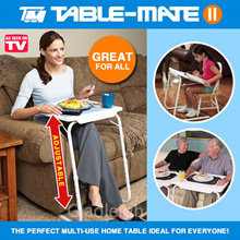 Table Mate II / Portable Folding Table As Seen On TV Laptop Bedside Table