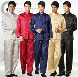 suit word Tai Chi costume kung fu shirt short-sleeved suit thin men s wear costumes  stage performance