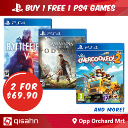 Buy 1 Get 1 Free PS4 Games // Choose any 2 for S$69.90