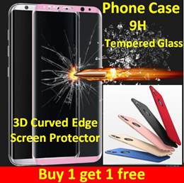 1+1+1 Curved edge Tempered Glass Screen Protector/iPhone X/7/8 Plus/Samsung Note8/S8/S8+ oppo/huawei