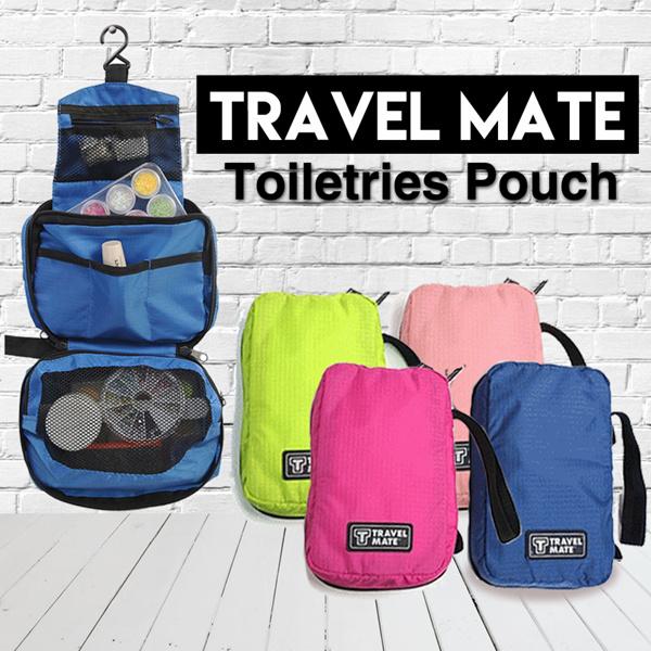 Travel Mate Toiletries Pouch / Toilet BagTas perlengkapan mandi kosmetik organizer bisa di gantung Deals for only Rp37.500 instead of Rp37.500