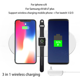 Wireless charger pad for iphone X 8 plus apple watch samsung galaxy S8 9 plus note
