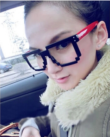 ba64cb0e8d6 Mosaic eye glasses frame influx of people of non-mainstream female models  male personality large