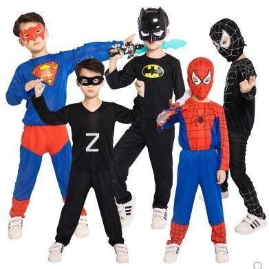 1034fcbbae36f Halloween Childrens Costume Masquerade Cosplay Spiderman Superman Batman