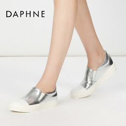 [D]Spring designer shoes round head flat shoes metal cat head han edition