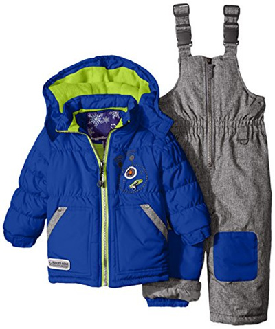 Rugged Bear Baby Boys Robot Snowsuit And Coat Two Piece Set
