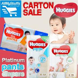 【HUGGIES】●HUGGIES Platinum Pants/Diapers ●Dry Pants● CARTON SALE