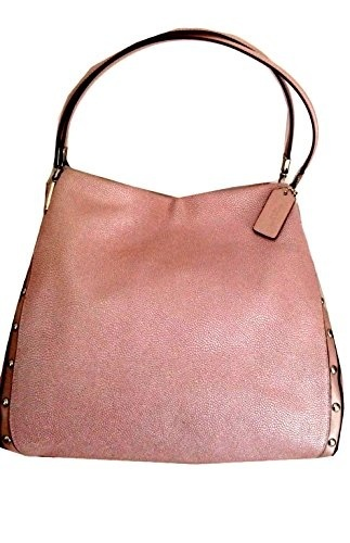 Coach Madison Purse Handbag Phoebe Studded Caviar Leather Rose Pink 35211