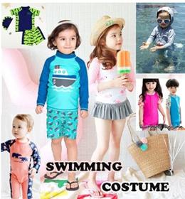 [FREE SHIPPING]Baby Kids Swimming Costume Boys Girls Swim Suit Goggle