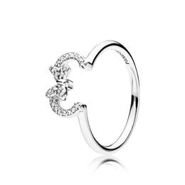 6e508237d [PANDORA Authentic] Ring 197509CZ Disney Minnie Silhouette