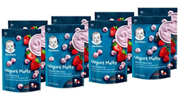 ▶$1 Shop Coupon◀  Gerber Graduates Yogurt Melts, Strawberry and Mixed Berry, 8 Count