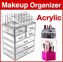 **Best Seller * Free Shipping* Stacking Acrylic Stackable Cosmetic Organizer Makeup Box