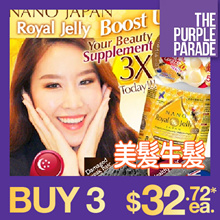 [BE NANO FELLOWS! 2X DISCOUNT INSTANTLY!!] ♥NANO ROYAL JELLY ♥PREMIUM ♥BOOSTS 3X HAIR GROWTH