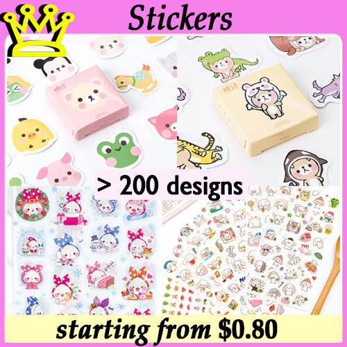 STICKERS PACK CARTOON CHILDREN DAY GIFT STATIONERY GOODIE BAG CHRISTMAS BIRTHDAY Deals for only S$4 instead of S$0