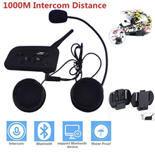 Helmet Headset Bluetooth Intercom for Motorcycle Full Duplex Wireless Bluetooth Interphone BT Interc