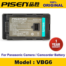 100% Original PISEN Camera Battery VW-VBG6 Panasonic SDR-H80K SDRH80K AG-AC130 AGAC130 HDC-TM700 HDCTM700 PV-GS500 PVGS500 HDC-SD5EG-K Battery 1 Year Warranty