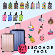 【Buy 4 Get 1 Free】Travel Luggage Tags / Cartoon Name Tag / Silicone Bag Tag / Name Holder
