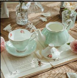 Royal Albert English bone China tea Kettle retro coffee pot ceramic grade garden green wave