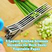 5 Layers Kitchen Scissors Shredder for Herb Sushi Vegetable Spice Paper