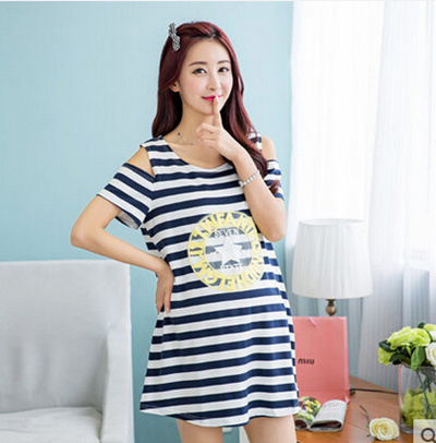 Korean summer dress fashion striped skirt Strapless pregnant women pregnant  women in the long coat o 15f6f5a85ea6