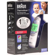 BRAUN THERMOSCAN 7 IRT6520 THERMOMETER/ BPA FREE/ COLOUR CODED DISPLAY/ FREE 1 MONTH WARRANTY