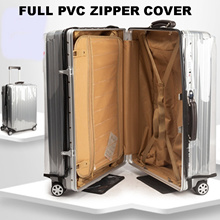 Convenient Zip PVC Cover/Transparent PVC Luggage Cover/Waterproof Suit Case Protector/20 to 30 Inch
