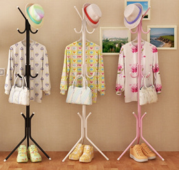 Hanging Pole Rack Clothes Handbags Hanger Stand
