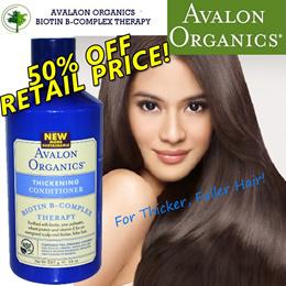 AVALON ORGANICS Thickening Shampoo/Conditioner. Limited Time Sales!!