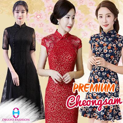 88ed6b7adf9f 2019 CNY Cheongsam Qipao Cny Clothes Cheongsam Dress Top Modern Cheongsam  Oriental Dress