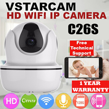 Vstarcam C26S HD 1080P Wireless IP Camera WIFI * Night Vision * Remote Viewing * MicroSD Record * Huawei Hisilicon Smart Chip * Hidden Infrared n WiFi Antenna. Local Stocks and Warranty
