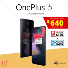 [Ready Stock] OnePlus 6 | 64 - 256GB | 4 Colors | Use Coupon Here | First buy first get | $640nett
