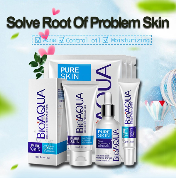 Bioaqua PURE SKIN Anti Acne Cleanser Foam Mask Cream Serum Deals for only Rp17.500 instead of Rp25.000
