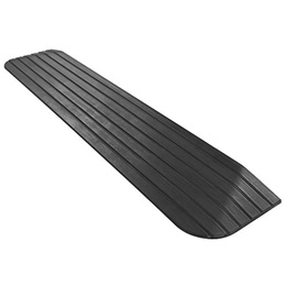 """Silver Spring 1"""" Solid Rubber Power Wheelchair Threshold Ramp"""