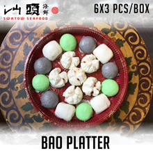 FRESHLY HANDMADE Bao Platter 3x6pcs! Fresh and Chilled! 6 Bao Choices