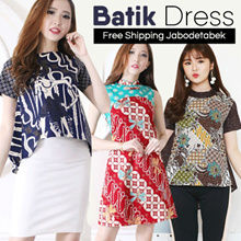 BATIK DRESS BLOUSE CHEONGSAM CULLOTE - Pastel n Bright Colors - Modern Batik Dress