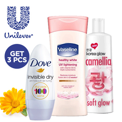 [ Get 3 Pcs ] Unilever Body Care Series Vaseline Deals for only Rp39.900 instead of Rp110.833