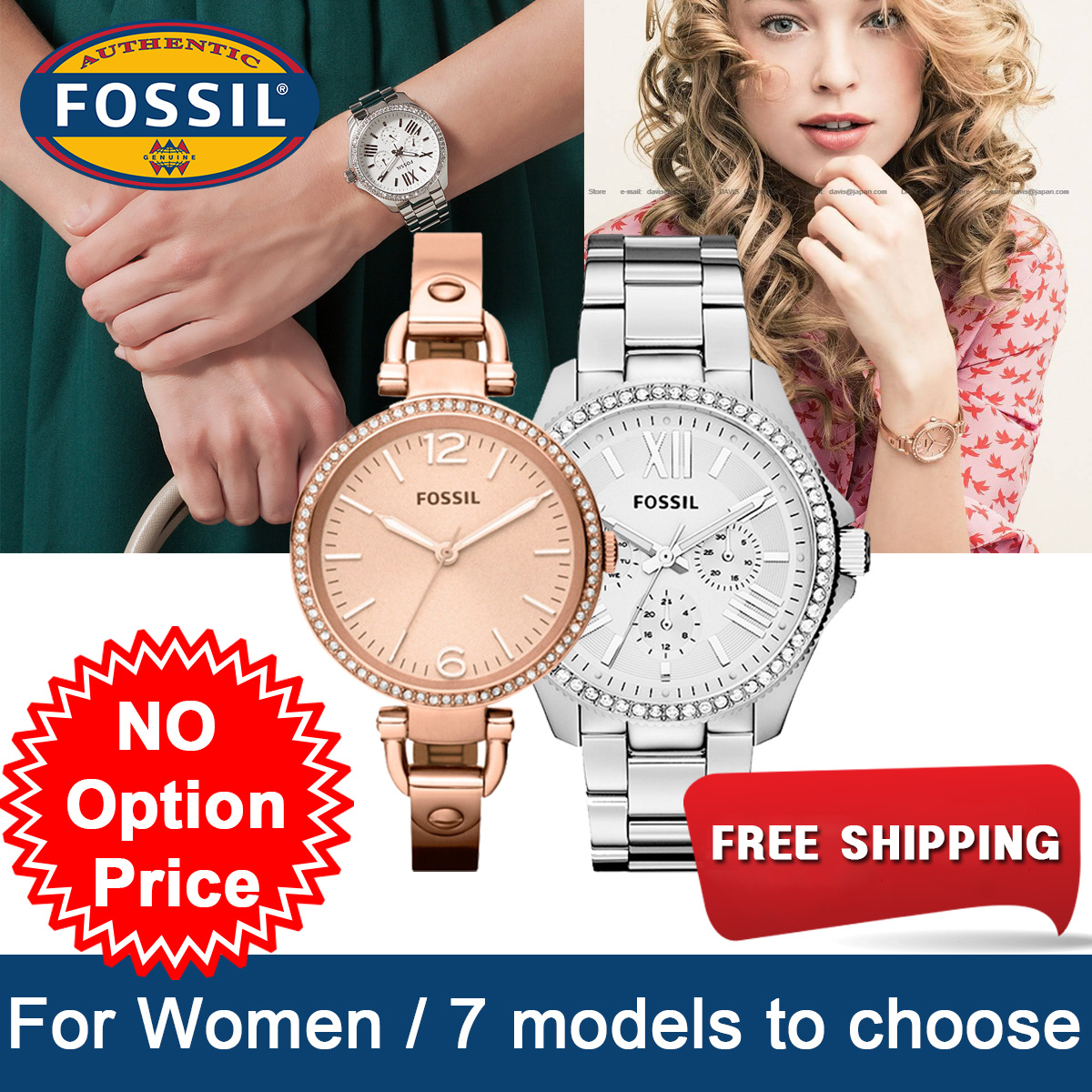 Qoo10 Fossil Watche Watch Jewelry Es3487 Original Fit To Viewer