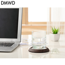 DMWD Electric USB Cup Warmer Hot Plate Milk Tea Coffee heater portable 5V Metal Heating Pad Mat Warm