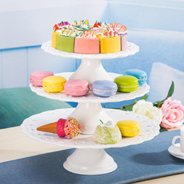 Trade-style ceramic dishes and creative dishes high cake tray dessert fruit cake baking