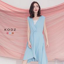 KODZ- Elegant V-neck Sleeveless Dress-182597
