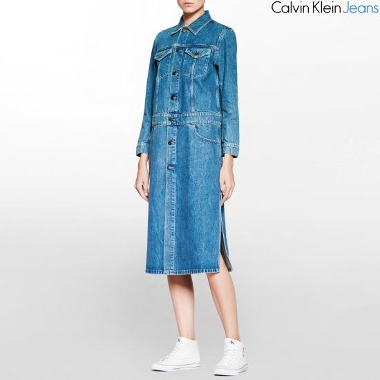 カルバン・クラインのジーンズ女性のデニムドレスJ206155 面ワンピース/ 韓国ファッション