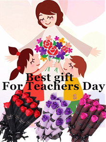 10 pcs/set Soap Rose Flowers for Teachers Day/Mothers Day/Valentines Day/Marriage/Birthday Gift